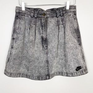 NIKE Vintage Challenge Court Denim Skirt M Logo